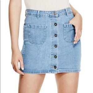 Guess button up denim skirt